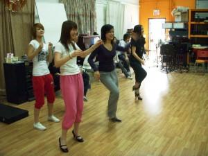 the Girlz immitating the Boyz' dance