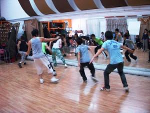 Boyz' during dancing class