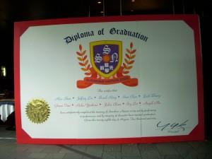 the mega diploma of graduation